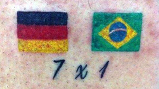 Tatuaje Alemania 7-1 Brasil